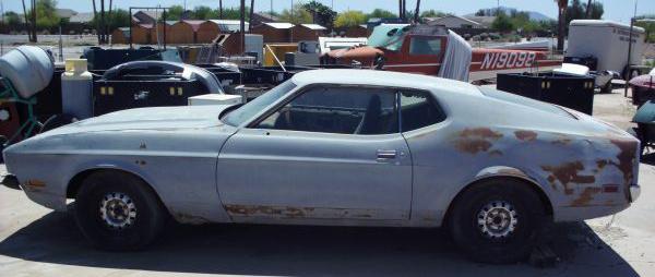 1971 Mustang Mach 1 graveyard car