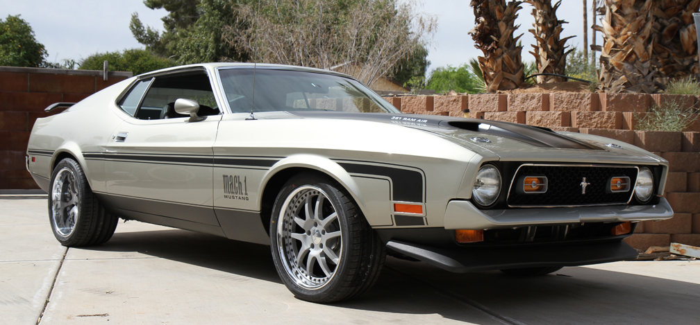 "1971 Ford Mustang Mach 1 on 18"" Intro Wheels and Falken tires"