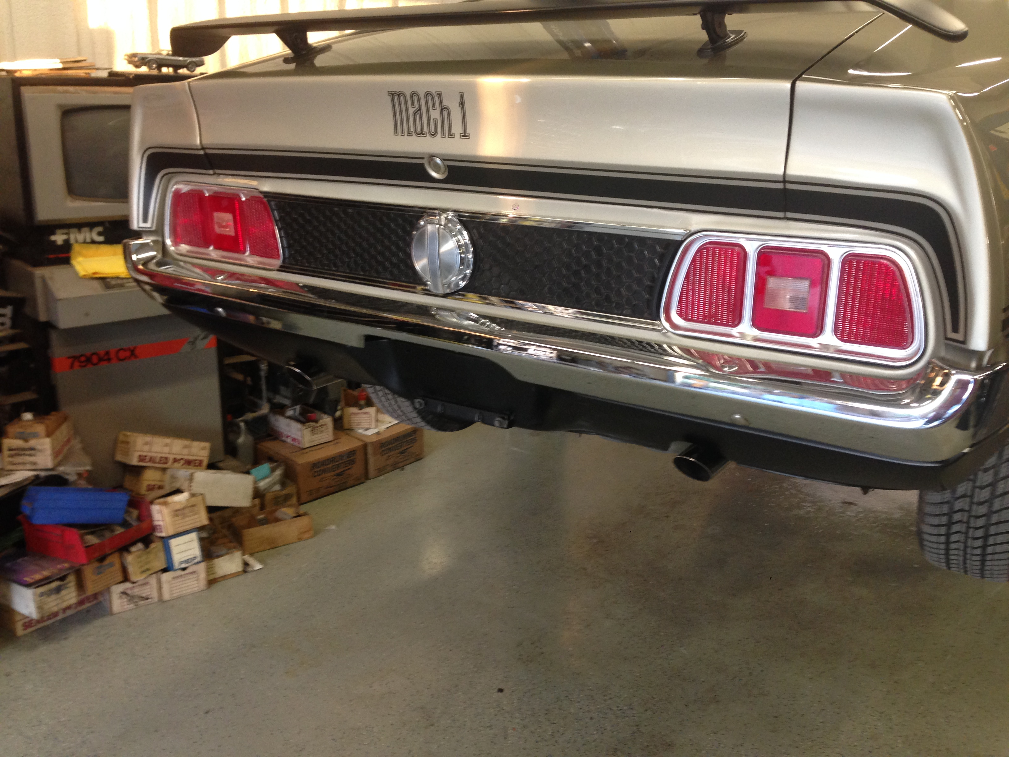 Finished rear shot of our 71 Mach I